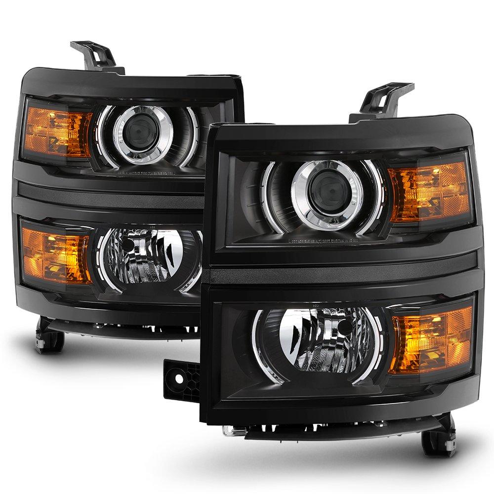 2015 Chevrolet Silverado 1500 Left Headlights Top Deals Lowest Chevy Fog Lights For 2014 Pickup Truck Black Bezel Porjector Headlight Lamp Assembly Driver