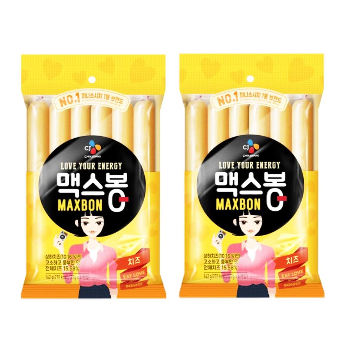 Korean CJ Maxbon Fish & Cheese Sausage Sticks (2 Pack)