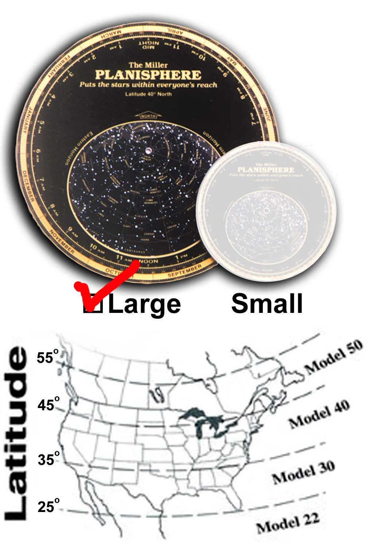Miller Planisphere Star Finder, Size Large - Model 30 degree