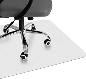 "VPCOK Office Chair Mat for Hardwood Floor Computer Chair Mat 47"" x 35"" Floor Protectors for Chairs Translucence Unique Design High Impact Strength Upgraded Version"