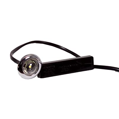 "Maxxima M09370WCL White 1"" Round LED Auxiliary Micro-Strobe Light with Clear Lens: Automotive"