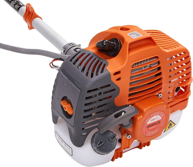 Greencut GGT650 9-1 - Desbrozadora a gasolina con motor de 65cc, 9 en 1: Amazon.es: Bricolaje y herramientas