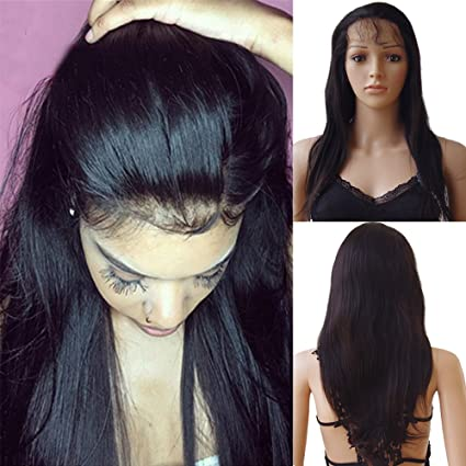 Peluca mujer 100% Cabello humanos naturales Bresiliens Remy duro Lace Wig