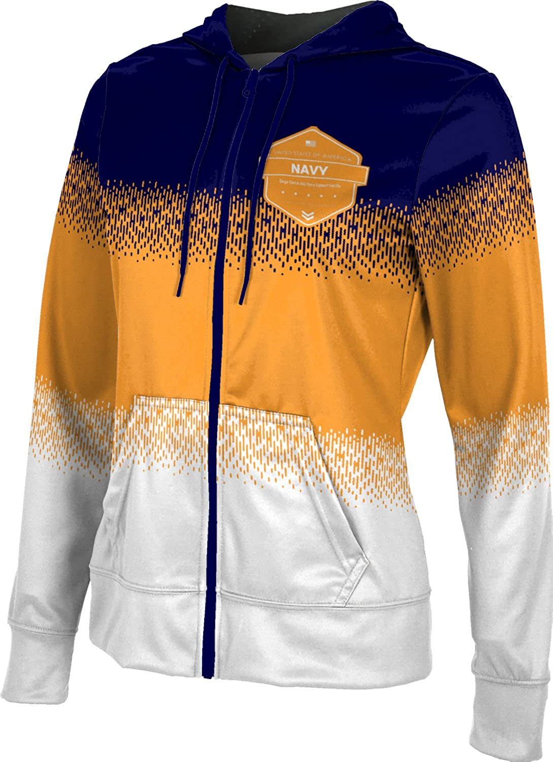 Women's Diego Garcia Atoll Navy Support Facility Military Drip Fullzip Hoodie
