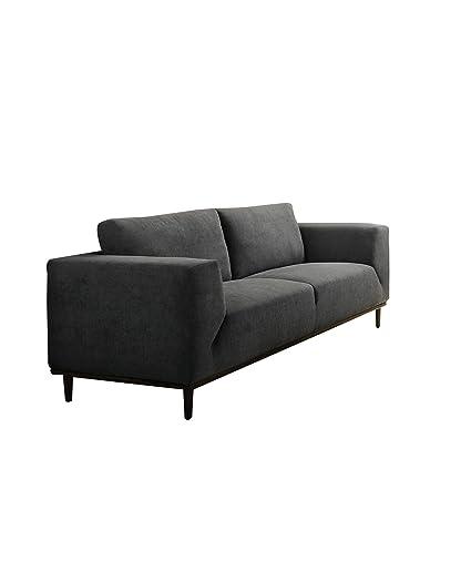 Acme Furniture ACME Lunaville Dark Gray Fabric Sofa