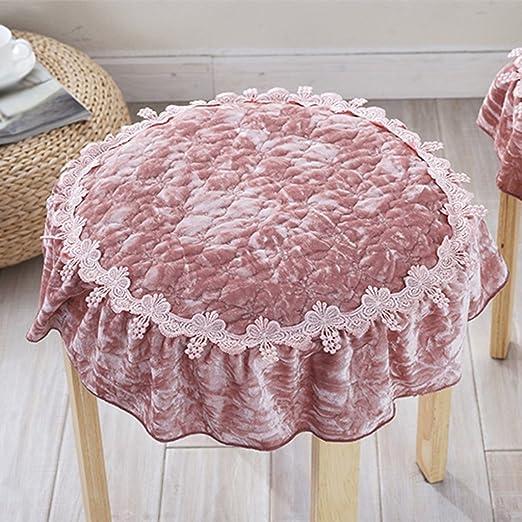 CYALZ Rosa Color sólido Patrón de flores Circular Plush ...