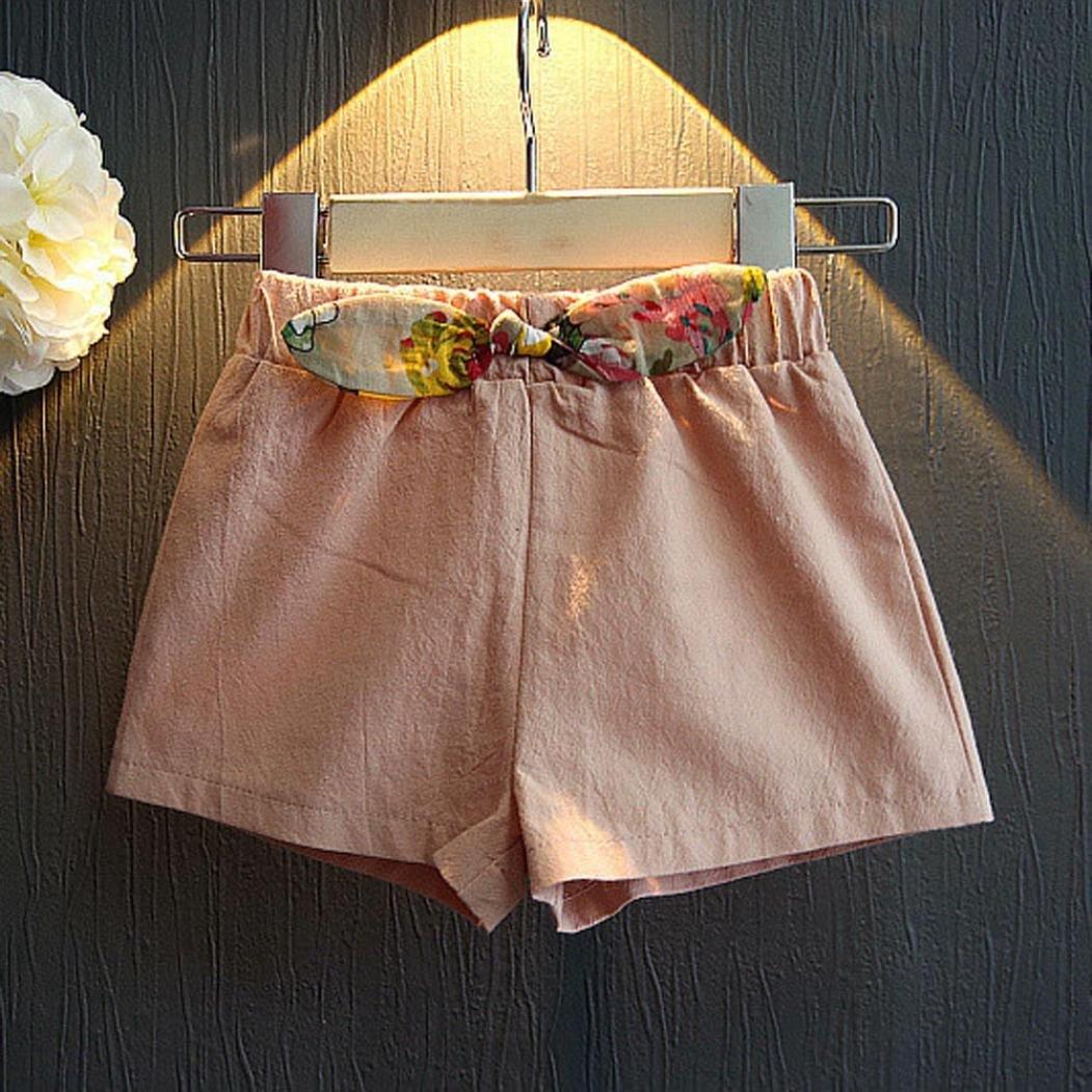 Amlaiworld ❤️Ensembles de B/éb/é Filles 2pc Filles V/êtements de Tenue Gilet Floral T-Shirt Shorts Ensemble de Pantalons pour Enfant Fille 2-7 Ans