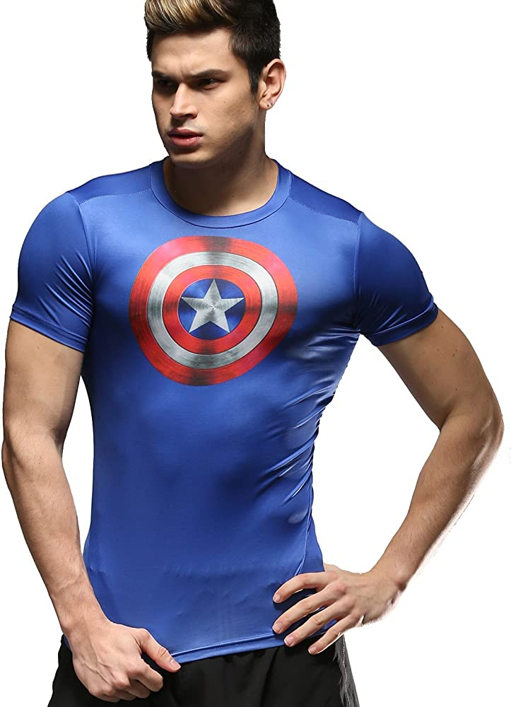 Cody Lundin Hombres pel/ícula Versi/ón Impreso Sport Running Compresi/ón Camiseta de Fitness Camiseta Hombres Ocio Tops