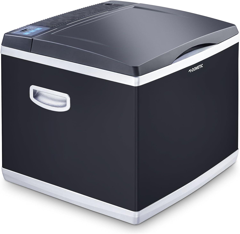 Dometic CoolFun CK40D - Nevera Híbrida portátil, conexiones 230 V (modo de compresor) y 12 V (modo termoeléctrico), 38 litros de capacidad, clasificación energética A+, color negro