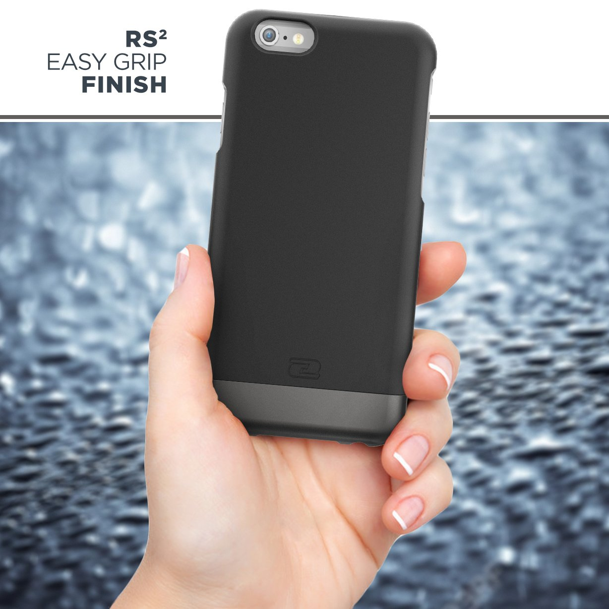 Encased Belt Case iPhone 6/6S, [SlimShield Series] Protective Grip Case with Holster Clip for Apple iPhone 6 (Smooth Black) by Encased (Image #5)