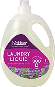 Biokleen Laundry Detergent Liquid, Concentrated, Eco-Friendly, Non-Toxic, Plant-Based, No Artificial Fragrance, Colors or Preservatives, Lavender Lily, 150 Ounces - 300 HE Loads/150 Standard Loads