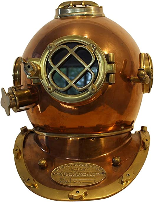X-Mas Mark Iv Us Navy Mini Diving Helmet Deep Sea Divers Helmet Brass 6 Inch