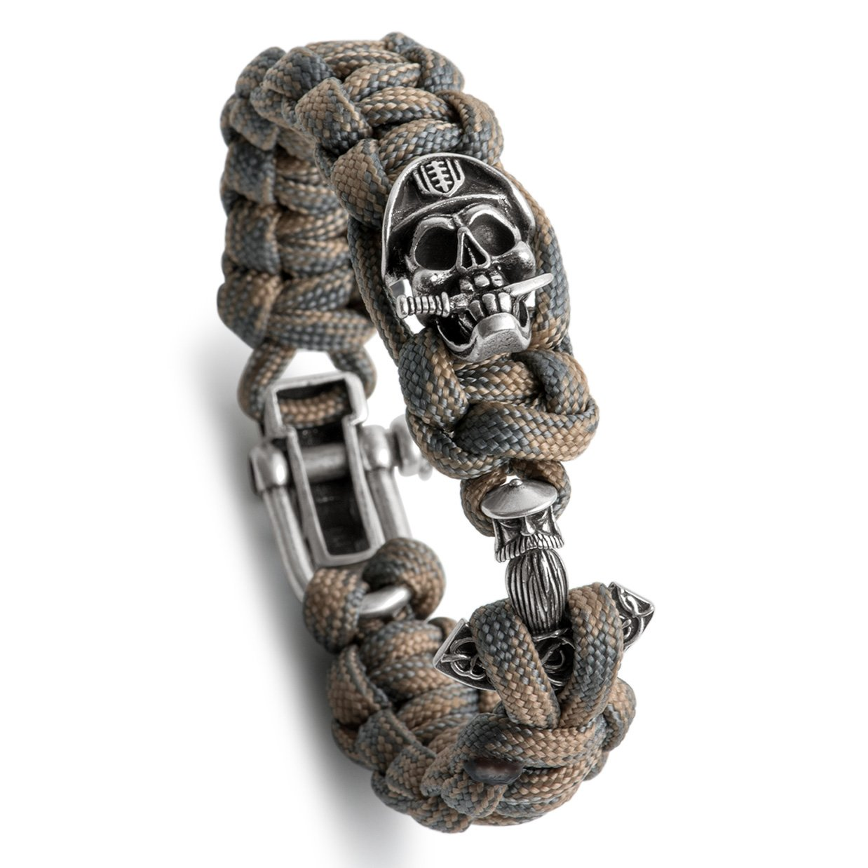 Kayder Skull Series Paracord Bracelet Set with Adjustable D Shackle, Personalized Fashion Jewelry Gift