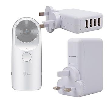 DURAGADGET Cargador De Viaje para Cámara LG 360 CAM/Samsung ...
