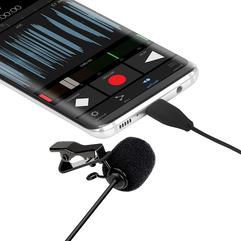 Microfono Lavalier Omnidireccional Tipo Boya Usb-c, Microfono Android Con Sistema Easy Clip En El Sistema, Perfecto Para