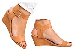 Gyouanime Women Mid Heel Sandals Office Sandals Slippers Buckle Strap Roman Shoes Sandals Outdoor Workout Sandals Shoes