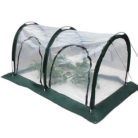Latinaric Invernadero de túnel invernadero caseta cubierta transparente de patio jardín