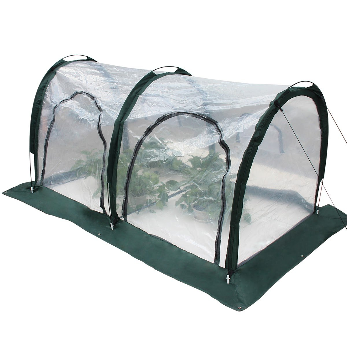 TargetEvo 78''x39''x39'' Warm Transparent Greenhouse with Foldable Tunnel Bird Prevent Cover for Indoor & Outdoor Gardening Plants