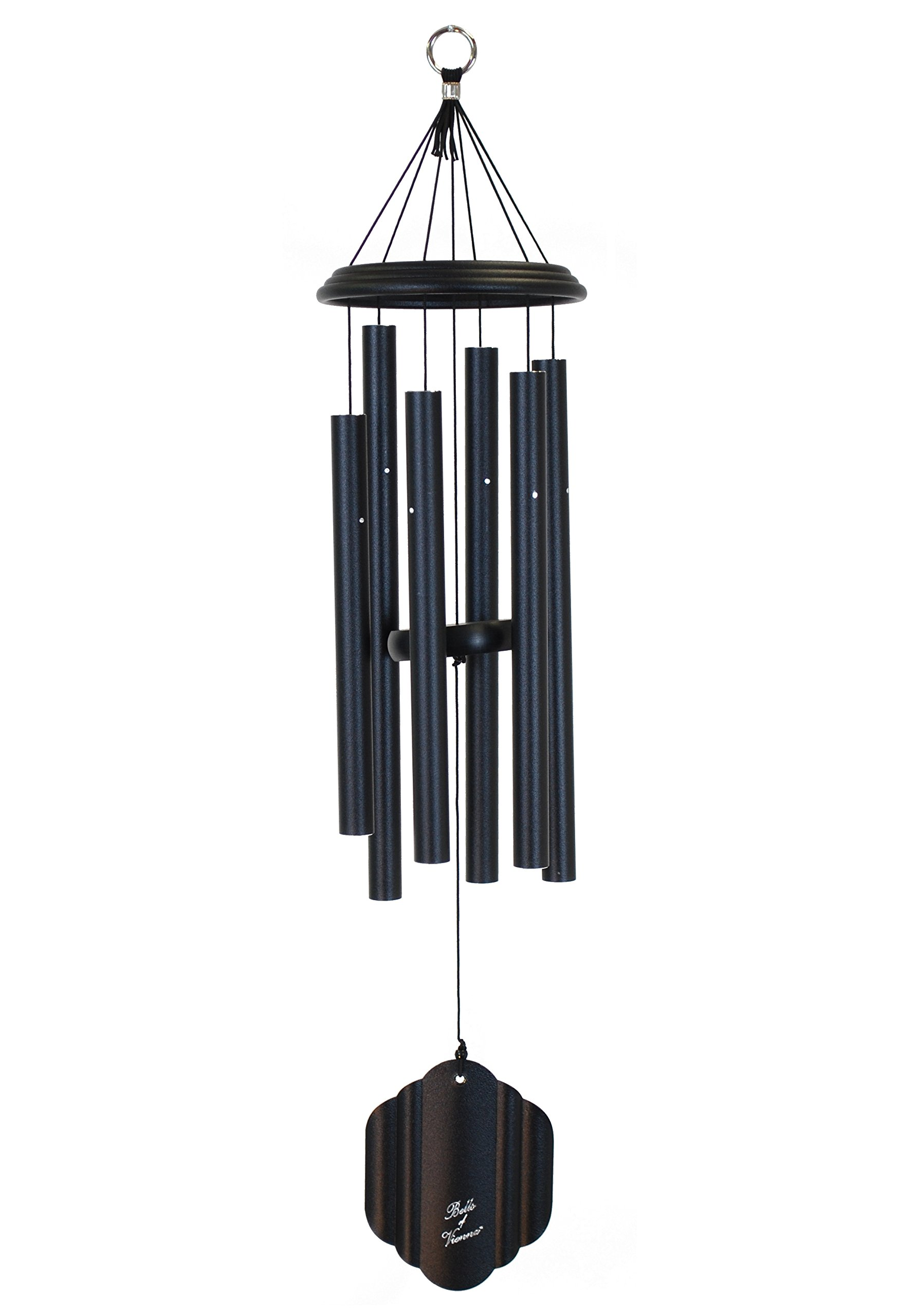 Bells of Vienna 29-inch Windchime, Black