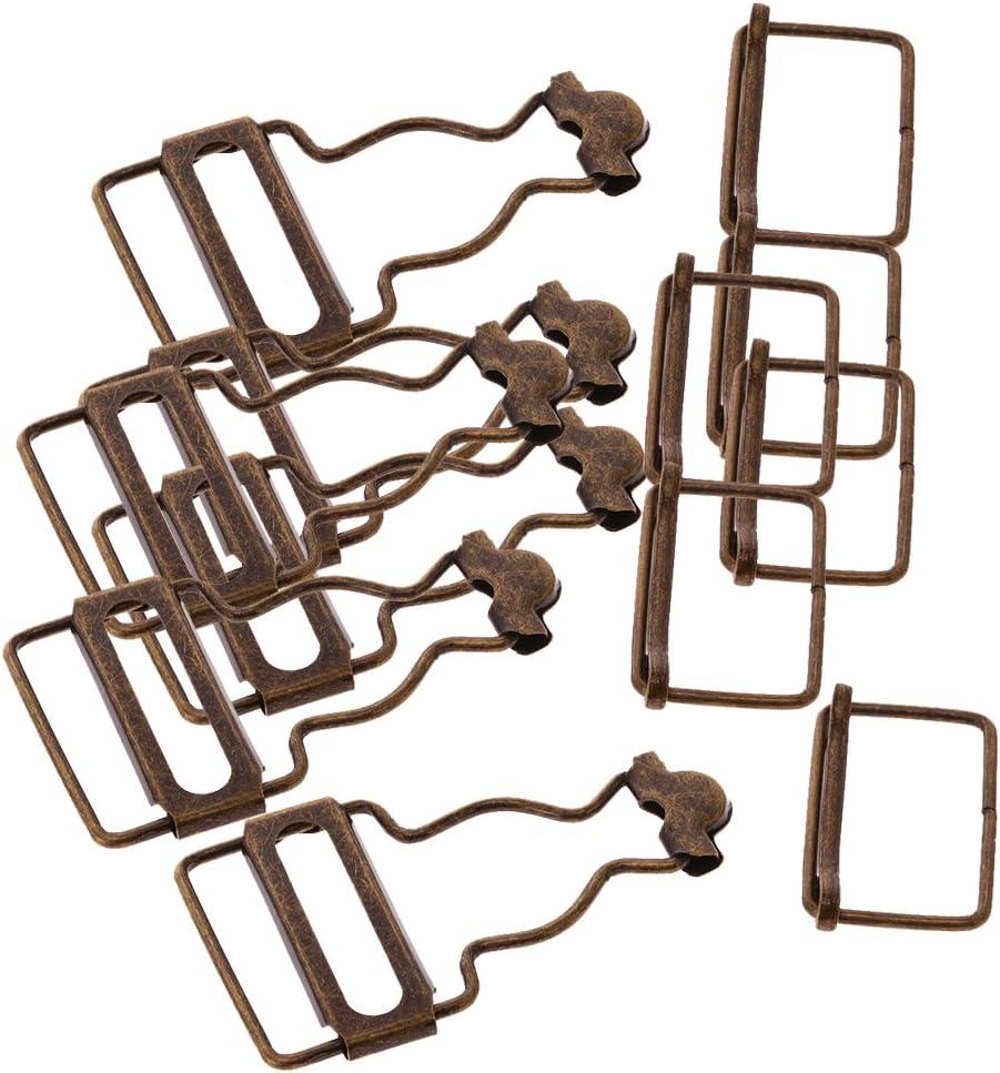 MagiDeal Set Von 6 Hosentr/ägerschnallen Latzhosenverschluss innenbreite Clip Klammer Schnalle Schnallengleiter Gurteinsteller G/ürtelschnalle 2,7cm Bronze