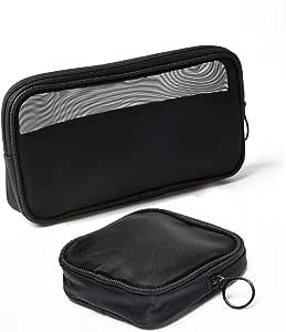 Patu - Neceser de viaje de malla, bolsa transparente de pie, organizador portátil para kits de afeitado, funda de viaje para cuidado personal, Assorted Sizes (3 pcs)