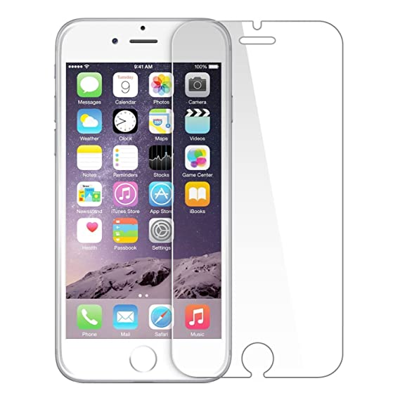 size 40 5a87a 280f2 G-Armor iPhone 6/6S Tempered Glass Screen Protector Ultra Clear Scratch  Resistant Protective Shield, 0.3mm
