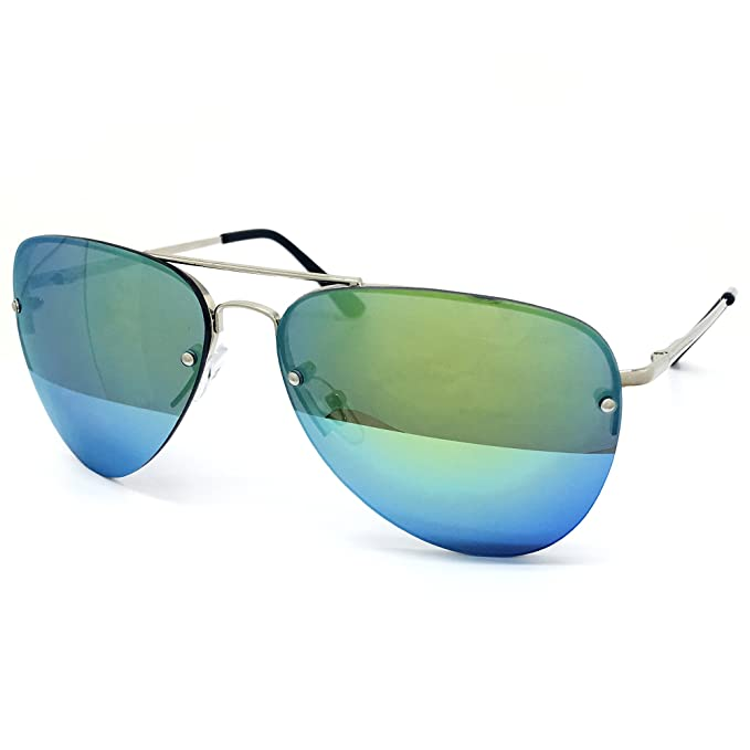 Amazon.com: O2 Eyewear 1398 Premium Teardrop Rimless Espejo ...