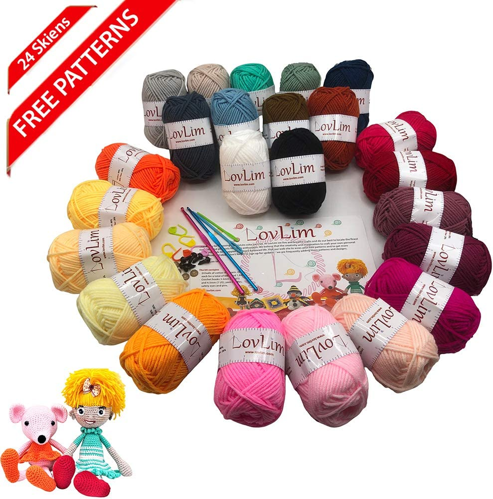 Amazon.com: DIY Beginner Crochet Kit (Fox)   1003x994