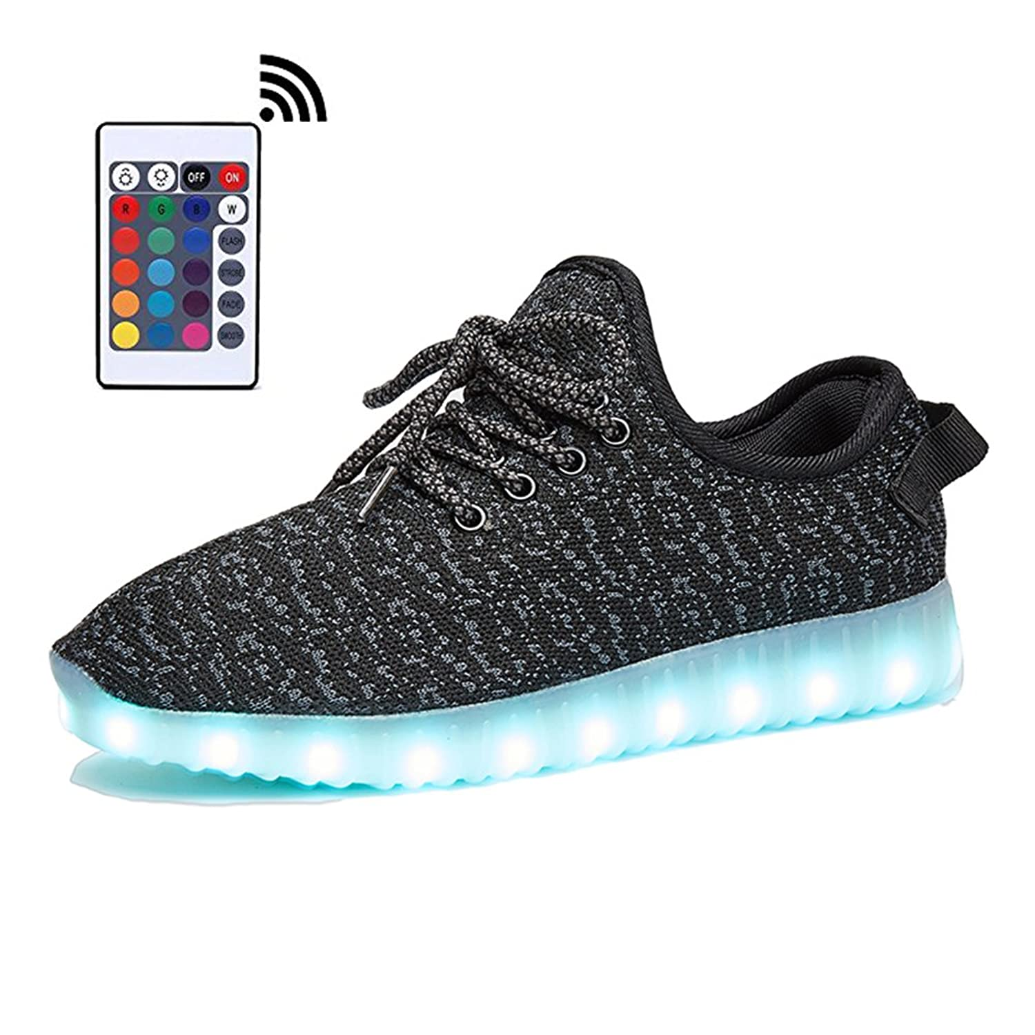 LEOVERA Men Women USB Charging LED Light Shoes Flashing Sneakers