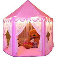 Monobeach Princess Tent Girls Large Playhouse Kids Castle Play Tent with Star Lights Toy for Children Indoor and Outdoor…