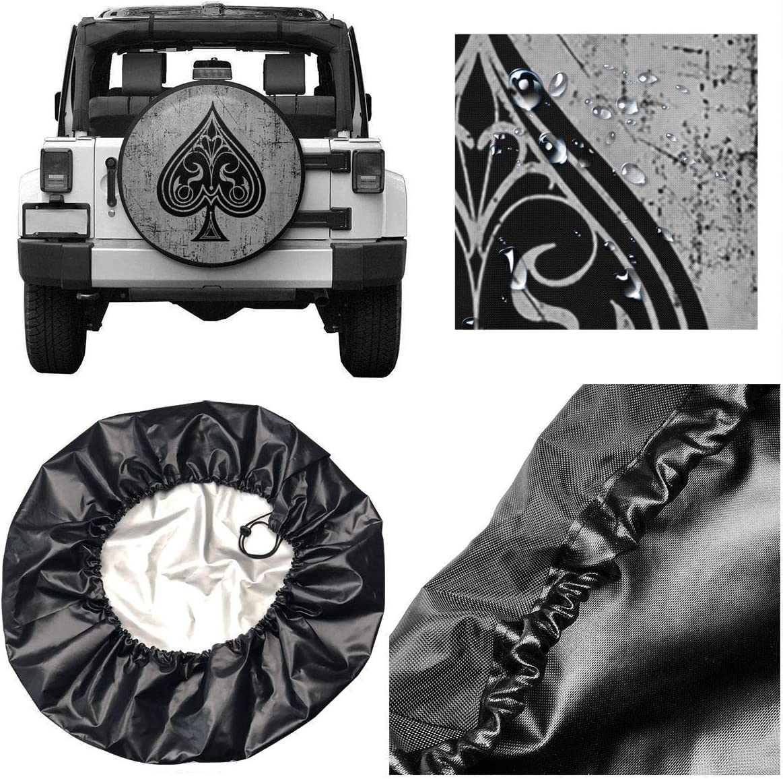 Belleeer Cubierta de Rueda de repuestoTire Cover Polyester Universal Spare Wheel Tire Cover Wheel Covers for Trailer RV SUV Truck Camper Travel Trailer 14,15,16,17 Inch