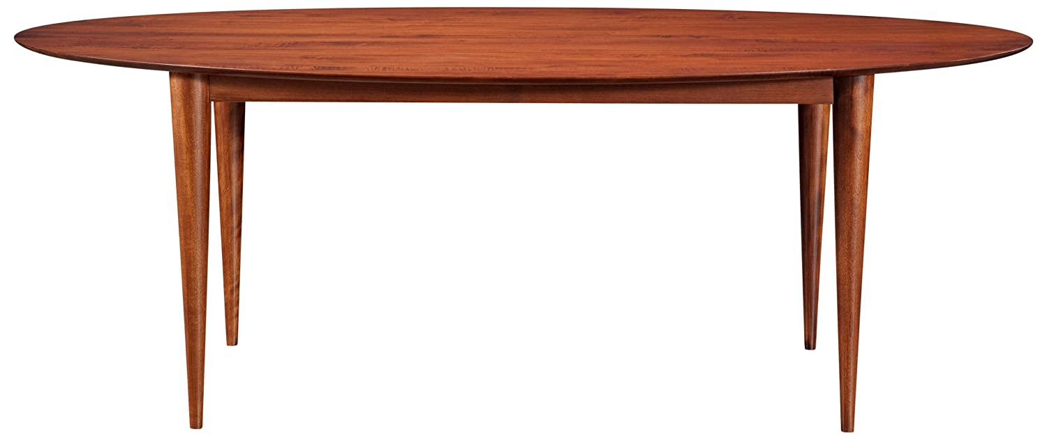 Saloom Furniture Cona Ellipse Maple Smooth Top Dining Table - 36 x 70 - Java Finish