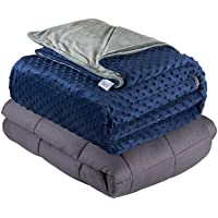 Deals on Quility Weighted Blanket for Adults Queen Size, 60x80-in 15 lbs