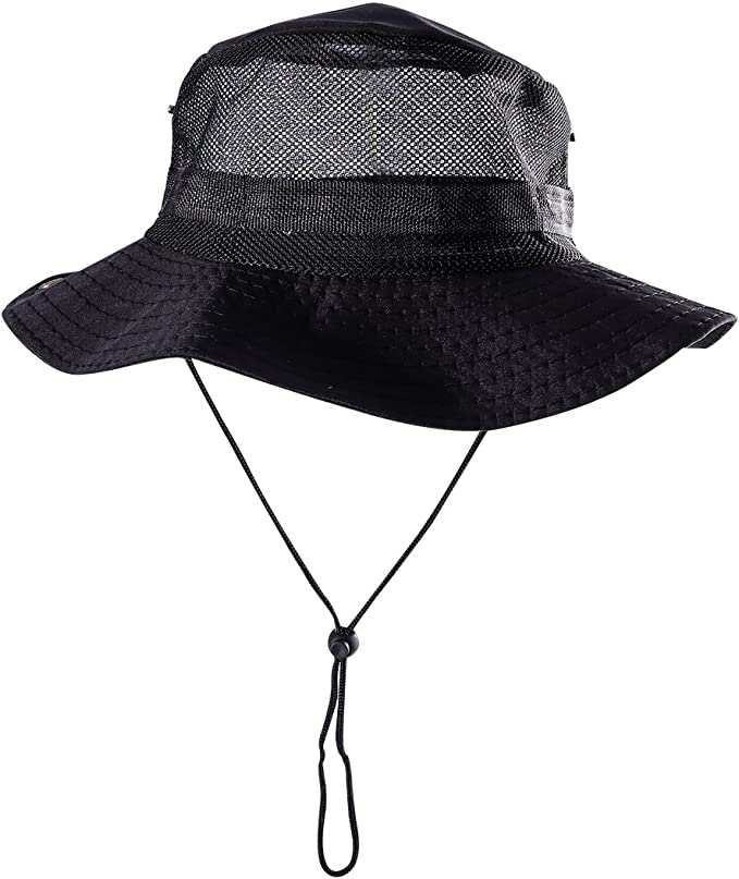Cotton Sun Hat Fisherman Fishing Bucket Hat Unisex Outdoor Activities Sunscreen Fisherman Hat Comfortable Material Camping Hat Leisure Sun Hat Black Khaki GOODGDN Fishermans Hat