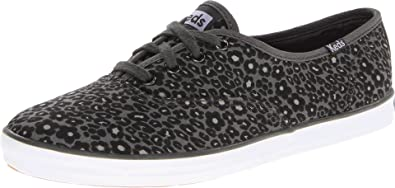 8ee6ab20e6ad9 Keds Womens Champion Leopard Lace-Up Flats Black 42.5 EU  Amazon.co ...
