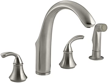 Kohler K 10445 Bn Forte Widespread Kitchen Faucet Vibrant Brushed