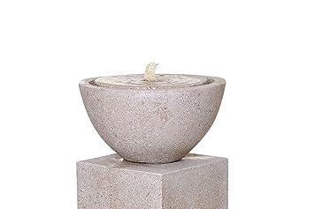 """Grau Brunnenschale Brunnen Zimmerbrunnen Fiberglas Steinoptik /""""Vaso/"""" Ø40 cm"""