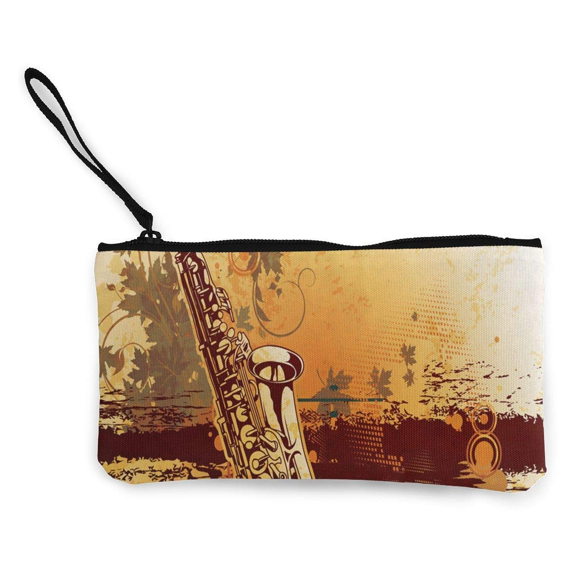 Coin Purse Old Style Musical Instruments Teen Girls Zip Canvas Purse Wallet TravelCustomized Holder