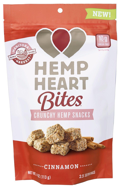 Manitoba Harvest Hemp Heart Bites, Cinnamon, 4oz; Non-GMO Verified with 10g of Protein & Omegas per Serving