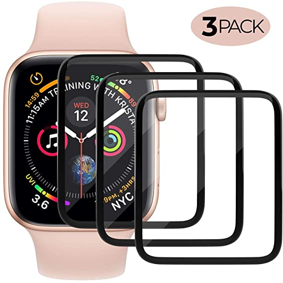 Screen Protector Compatible with Apple Watch (38mm Compatible with iWacth Series 3/2/1),HD Anti-Bubble Scratch-Resistant Guard Cover Protective Soft ...