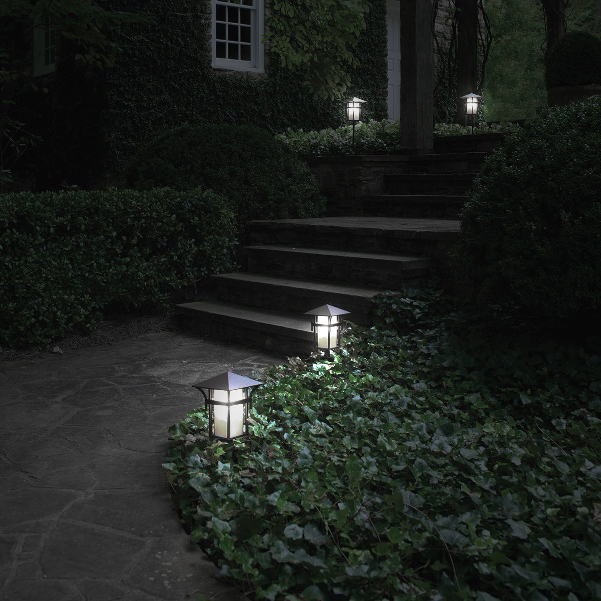 JandCase E12 Light Sensor Candelabra Bulb, Dusk to Dawn LED Bulbs for Porch, Daylight White(5000K), 40W Equivalent, 5W, 450lm, G14 Automatic Indoor/Outdoor Security Lights for Patio, Hallway, 4 Pack by JandCase (Image #7)