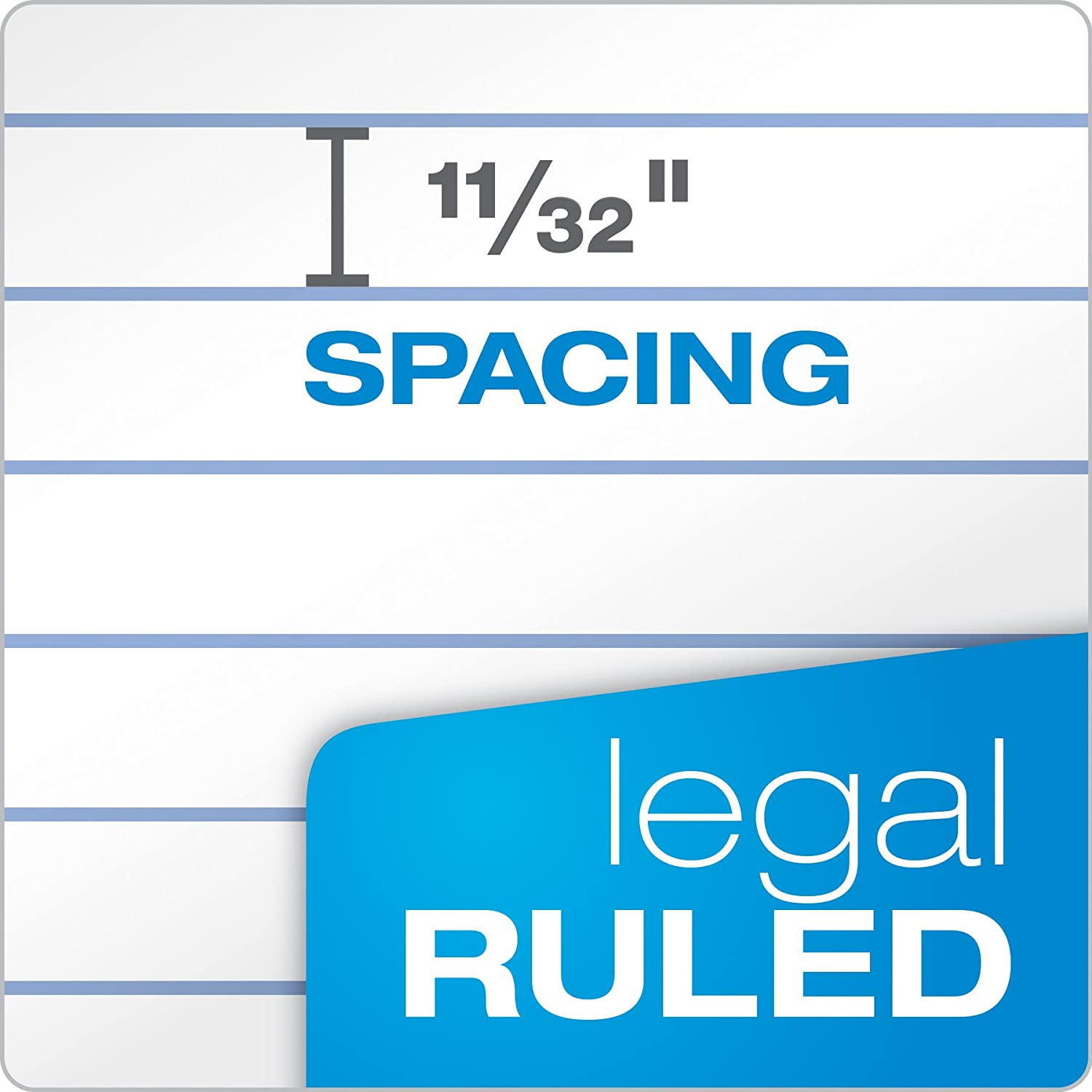 50 Sheets per Pad 20-360 Ampad Perforated Pad Legal Ruling 8-1//2 x 11-3//4 White