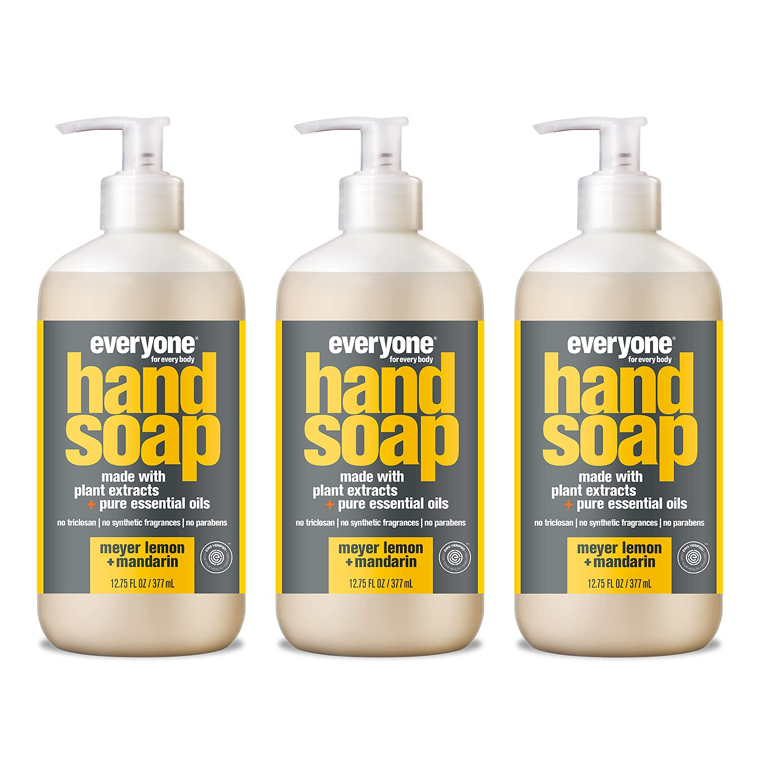 Everyone Hand Soap: Meyer Lemon and Mandarin, 12.75 Ounce, 3 Count - Packaging May Vary : Beauty