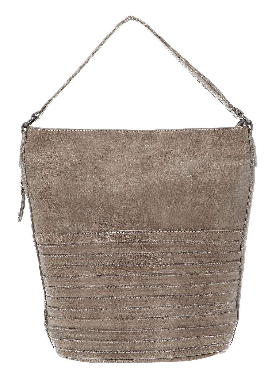 FREDsBRUDER Cheri axelväska läder 25 cm Grå_graubraun, grå