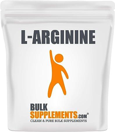 BulkSupplements.com L-Arginine Base Powder - L-Arginine Powder - Amino Acid Pre-Workout (500 Grams)
