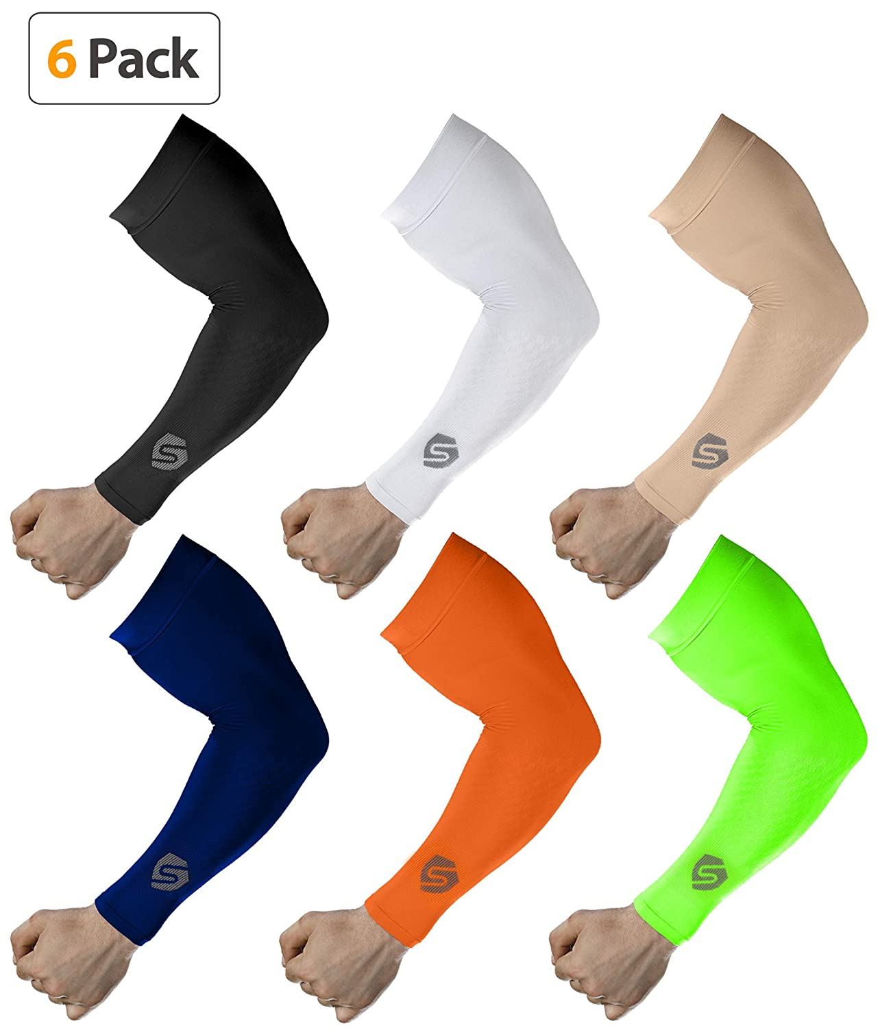 SHINYMOD Cooling Sun Sleeves 2018 Newest Upgraded Version 1 Pair/ 3 Pairs UV Protection Sunblock Arm Tattoo Cover Sleeves Men Women Cycling Driving Golf Running