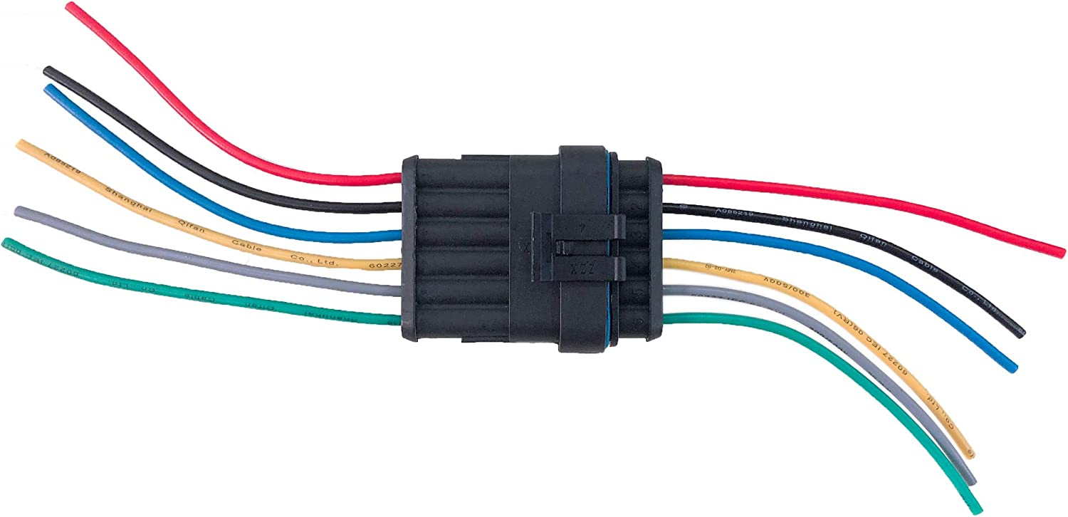 Zoneli 2 Pin Way 18 Awg Waterproof Wire Connectors Plug 1 5mm Series Terminal Connector Pack Of 10