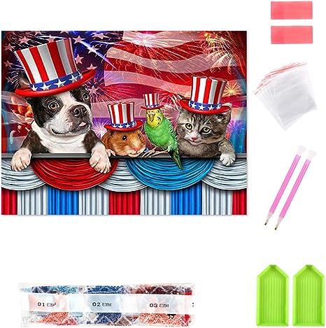 2020 Full Drill 5D Animals Diamond Painting Embroidery Cross Crafts Stitch Kit
