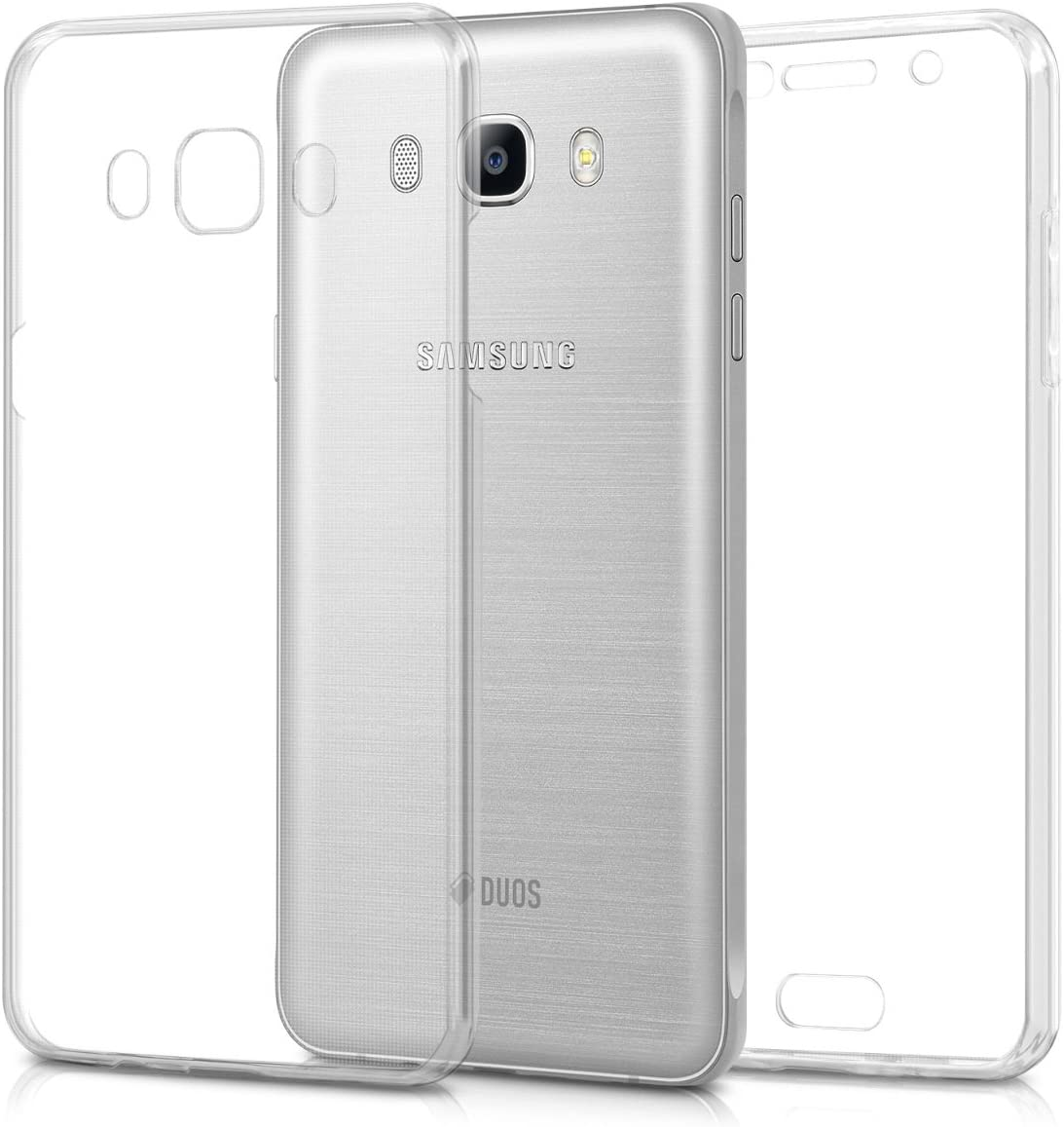 kwmobile Case Compatible with Samsung Galaxy J5 (2016) DUOS - Case Crystal Clear TPU Silicone Protective Cover Full Body Case - Transparent
