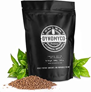 Mycorrhizal Inoculant by DYNOMYCO – High Performing Strains – Concentrated Formula – Improves Nutrient Uptake – Increases Plant Yields Enhances Resilience to Stress Saves Fertilizer (100 g / 3.5 Oz)